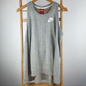 NIKE Men's Size L Grey/White Tank Top